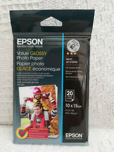 Epson Value Glossy Photo 10 x 15cm Paper - Sealed - 20 Sheets - Inkjet