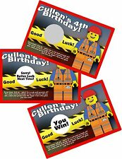 10 LEGO BRICK EMMET SCRATCH OFF PARTY CARDS BIRTHDAY FAVORS SCRATCH OFFS GAME