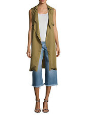 WALTER BAKER Army Green Terry Sleeveless Trench Size L NWT $198