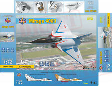 SUPER MIRAGE 4000 (2 Decos/P.E/Mask)  MODELSVIT PLASTIC KIT 1/72 IN STOCK