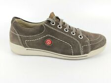 Rieker Taupe Suede Leather Lace Up Trainers Uk 3 Eu 36