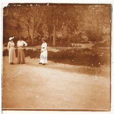 France Photo Amateur Mode Plaque de verre stereo Positive Vintage ca 1925
