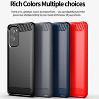 Shockproof Carbon Fiber Fiber Soft TPU Cover Case For OnePlus 9,9 Pro
