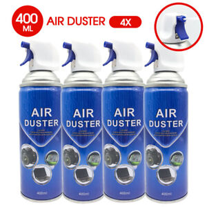 4x Multi-purpose Compressed Air Duster Cleaner 400ml AU POST