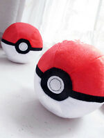 "New 20th Anniversary Edition TOMY Pokemon Pocket Monster 5"" Plush Poke Ball Toy"