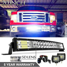 "5D 20"" 120W LED Light Bar +2X4INCH 60W PODS Conbo Fit ATV TRUCK OFFROAD PICKUP"