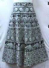 Women Clothing wrap around Maxi Skirt 100% cotton African Vintage 70s Free size