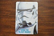 """New Disney Star Wars Storm Troopers Open Blast Door 8.5"""" x 12.5"""" Wall Door Sign"""