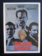 Filmplakatkarte cinema   Tödliche Fragen  Nick Nolte , Timothy Hutton
