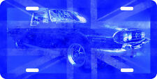 airbrushed aluminum Triumph Stag Art License plate