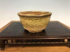 "Handmade Mame Or Accent Size Glazed Bonsai Tree Pot By Genshin 2 3/4"""