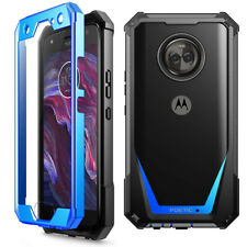 For Moto X4 Scratch Resistant Back Case,Shockproof Hard Shell Cover Blue