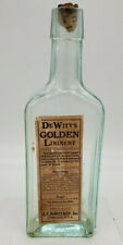 Antique Medicine Bottle Labeled Dewitt's Golden Liniment