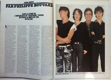 le groupe TELEPHONE : coupure de presse 2 pages 1983 // FRENCH CLIPPING