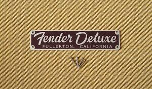 Nameplate Remake For Fender 5E3 Tweed Deluxe Guitar Amplifier Amp Badge Logo
