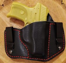 Ruger LC9, LC9s, EC9s X-Duty IWB Black Leather Full-Coverage Holster