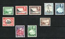 1936 Bermuda GV full set of nine stamps MM