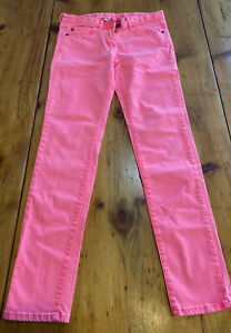 Crewcuts Girls Jeans Toothpick Size 12 Neon Pink