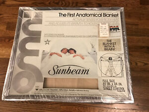 New Vintage OMNI Sunbeam Automatic Heated Electric Blanket Full 80 X 84 Beige