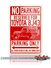 Toyota BJ43 Land Cruiser 4x4 Reserved Parking Only 12x18 Aluminum Sign