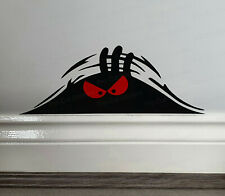 Evil Angry Monster Peeping Peek a Boo Funny Novelty Car Wall Sticker Decal ref:3