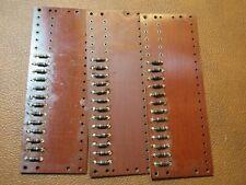 (3) 1950s vintage Turret Board (housed Sprague Bumblebee capacitors)
