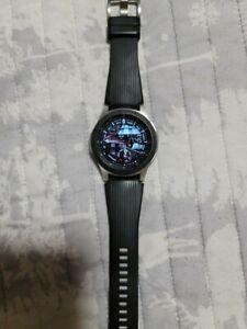 Samsung Galaxy Watch SM-R800 46mm Silver Case Classic Buckle Onyx Black