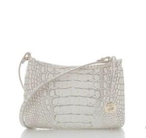 ❤️ BRAHMIN Anytime Mini Shoulder Tote Pochette Bag Pearl Melbourne New
