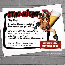 Pirate Stag Girl Stag Night Celebration Mens Party Invitations x 12 +envs H0715