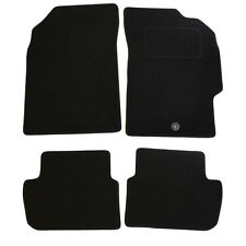 Chevrolet Spark 2010-2013 Fully Tailored 4 Piece Black Car Mat Set with 1 Clip