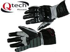 Gants noirs en armure rigide pour motocyclette