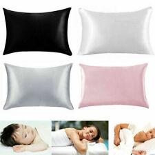 2PCS Soft 100% Mulberry Pure Silk Pillowcase Covers Queen Standard Hair nice
