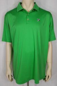 Peter Millar Summer Comfort green casual short sleeve golf polo shirt mens XL