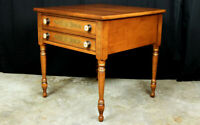 Lambert Hitchcock night stand or end table Federal style stenciled & signed