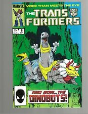 TRANSFORMERS #8 1985 1st DINO-BOTS Marvel Comic VF+ 8.5