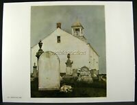 Andrew Wyeth Gravure Print PERPETUAL CARE & THE SEXTON, Cushing