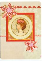 Playing cards swap card glamour lady modern wide