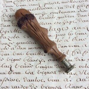 Cachet sceau Ancien Matrice Vierge Bois - Wax Seal 1900