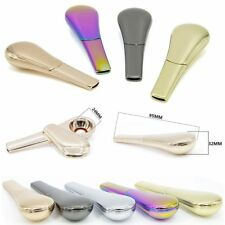 NEW Portable Spoon Smoking Pipe Magnetic metal Tobacco Accessories With Gift Box