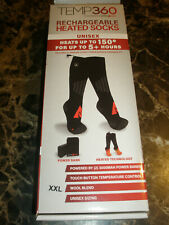 Temp360 by Action Heat Rechargeable Wool Heated Socks XXL