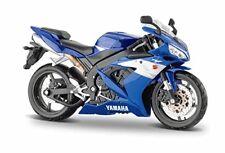 Modellini statici di moto e quad motocross blu New-Ray