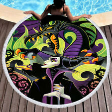 Walt Disney Tim Rogerson Maleficent Cool Round Towel Tapestry Yoga Beach Mat