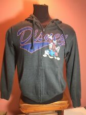 Disney Mickey Mouse Donald Duck Small Gray Zippered Front Hoodie