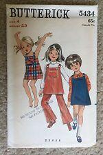 Vintage '60s Uncut Butterick Child's Girl's Jumper Dress Sewing Pattern #5434