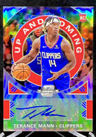 Terance Mann 2019-20 Panini Contenders Optic Auto Up And Coming Rookie RC  /125