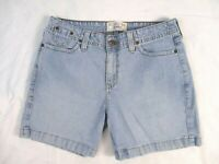 Levi Strauss Jean Shorts Light Blue Sz 8 Denim Casual Summer Womens CB40X