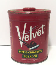 VELVET PIPE CIGARETTE TOBACCO LARGE 14OZ TIN CAN MADE USA LIGGETT MYERS COMPANY