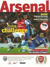 Football Programme - Arsenal v WBA - Premiership - 5/11/2011
