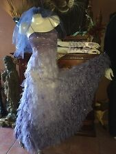 The Corpse Bride Wedding Dress set~Gloves~Veil~bouquet~Halloween Costume Emily
