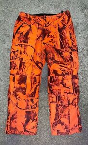 Bushmaster bright orange camouflage insulated hunting pants, mens L
